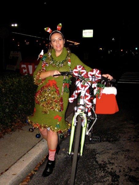 Rock Your Ugly Christmas Sweater Ugly Christmas Bike Dress