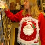 ugly christmas sweater post office worker
