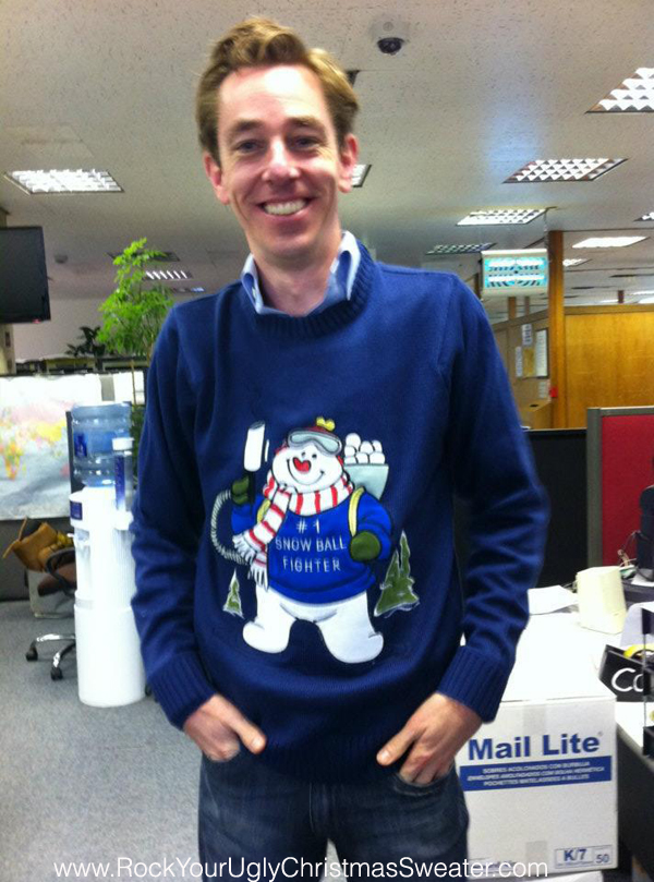 Picture of Ryan Tubridy Tubs in Funky Christmas Jumper