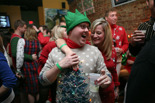 Elf tree ugly Christmas sweater KC
