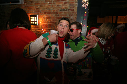 Rock Your Ugly Christmas Sweater Rocking An 80s Ugly Sweater Look