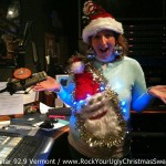 DJ Tara Madison from Star 92.9 in ugly Christmas Sweater