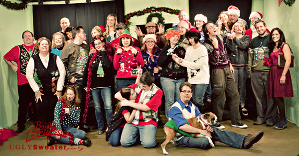 Boudoir Bombshells ugly christmas sweater party