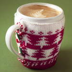Christmas sweater coffee cozy