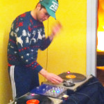 Ugly Christmas sweater DJ
