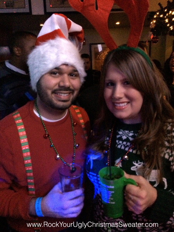 funny hat ugly Christmas sweaters at Christmas Crawl DC
