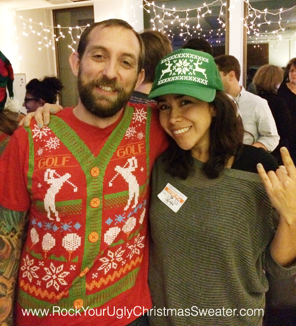 Golf ugly christmas sweater t-shirt and ugly Christmas sweater hat