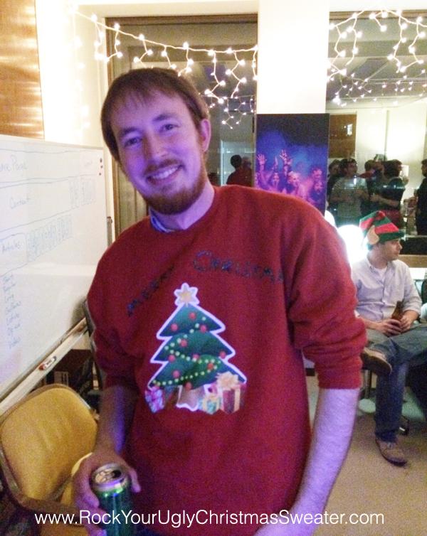 Christmas tree iron-on ugly Christmas sweater