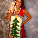 Hook rug ugly Christmas sweater dress