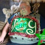 Giant joy ugly Christmas sweater with lights