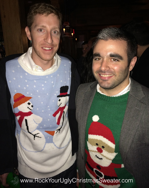 Naughty snowmen and santa ugly Christmas sweaters