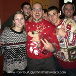 Cool reindeer and ugly Christmas sweaters at Christmas Crawl DC