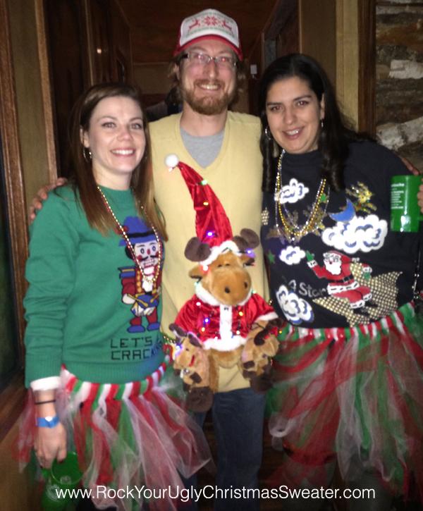 Naughty nutcracker ugly sweater and festive tutus