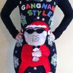 Gangam style ugly Christmas sweater