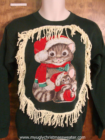 Kitten Christmas Sweater.Rock Your Ugly Christmas Sweater Epic Ugly Cat Christmas