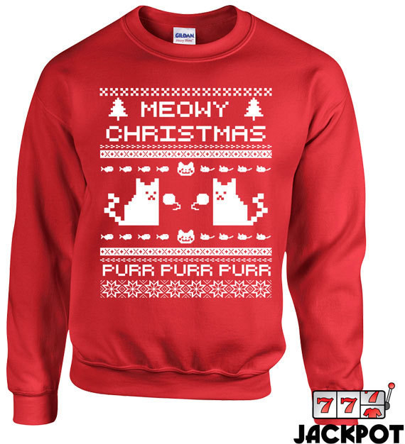 Purr cat ugly Christmas sweater