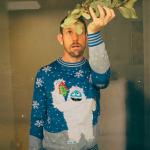 Yeti mistletoe ugly Christmas sweater