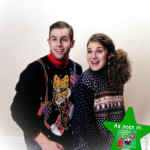 classic 80s ugly christmas sweaters, with cat stocking sweater