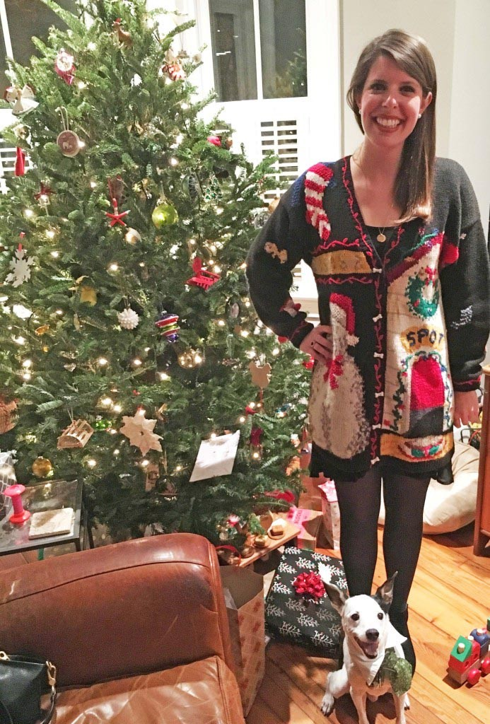 Spot doghouse ugly Christmas sweater