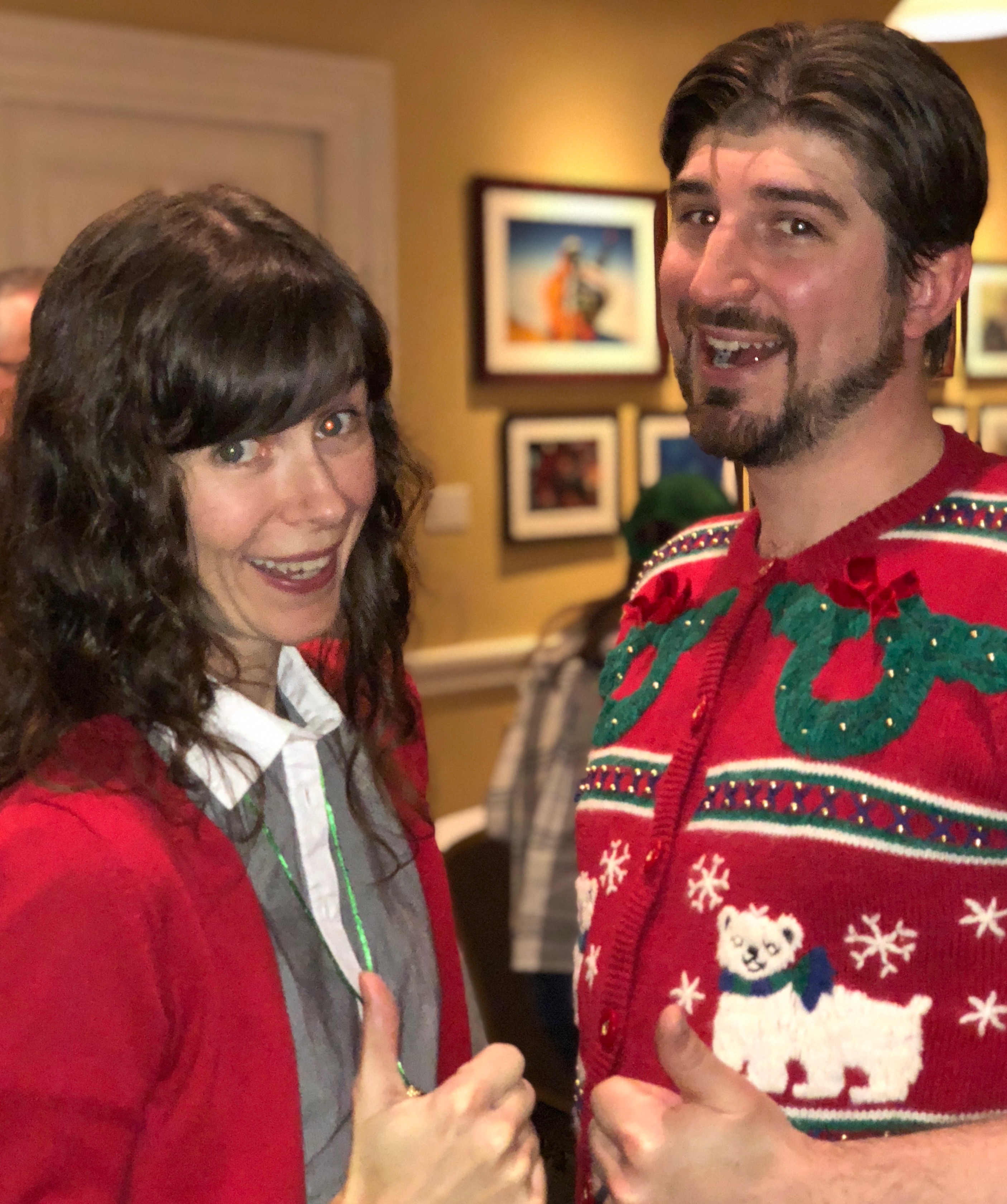 Rock Your Ugly Christmas Sweater Thumbs Up For Vintage Ugly Sweaters