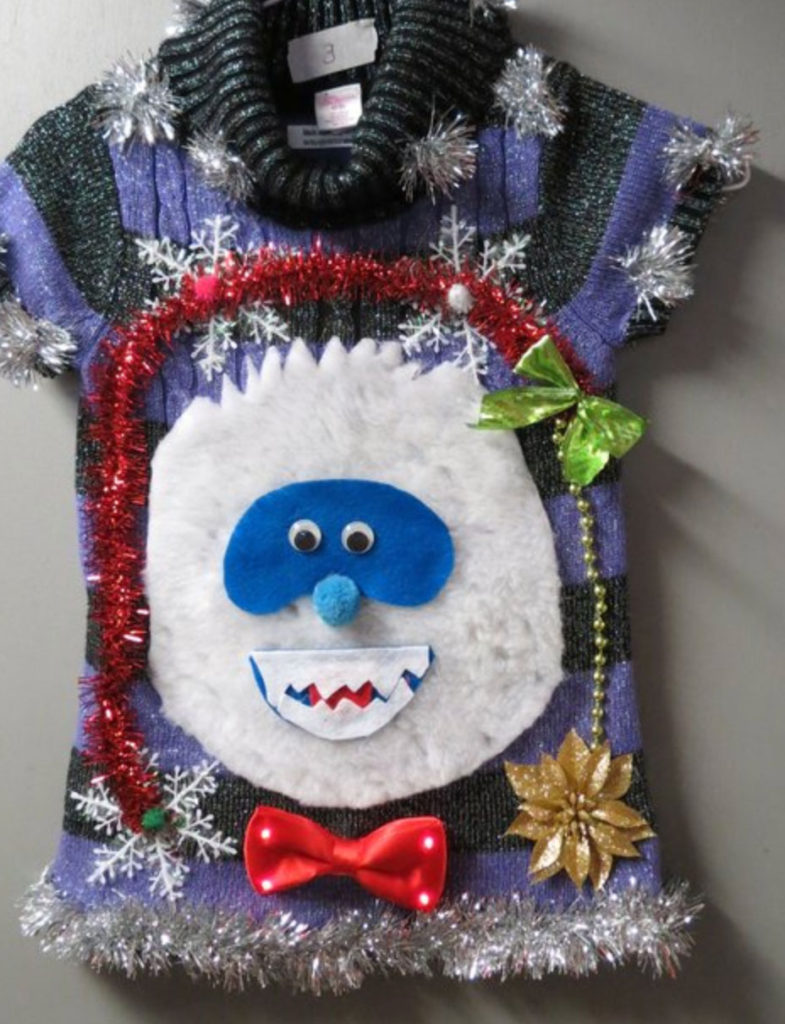 Bumble ugly Christmas sweater for children
