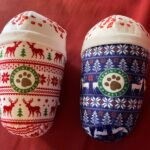 ugly Christmas sweater dog chew toys